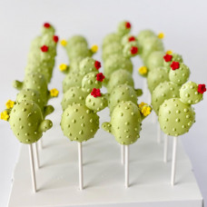Cake Pops в виде кактусов