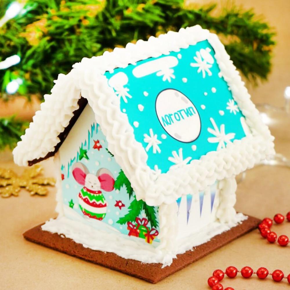 Пряничный домик с фотопечатью