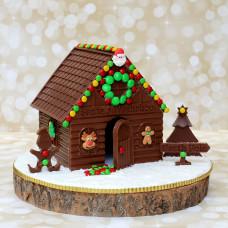 Новогодний домик из шоколада