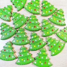 Новогодние пряники елочки
