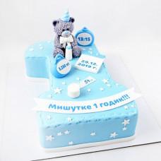 Торт цифра 1 для мальчика