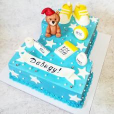 Торт в виде цифры 1 для мальчика