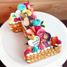Торт цифра 1 для девочек
