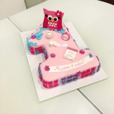 Торт на годик единичка с совой