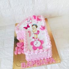 Торт цифра 1 без мастики