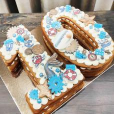 Торт цифра 10