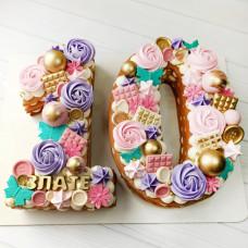 Торт цифра 10 для девочек