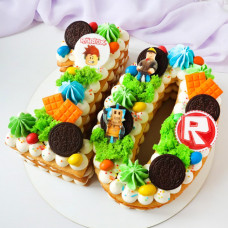 Торт цифра 10 для мальчика