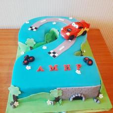 Торт в виде двойки