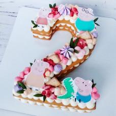 Торт в форме цифры 2