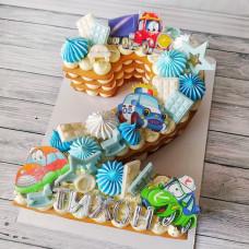 Торт двойка для мальчика