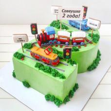 Торт цифра 2 для мальчика