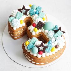Медовый торт цифра три