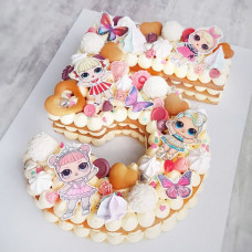 Торт цифра 5 для девочки