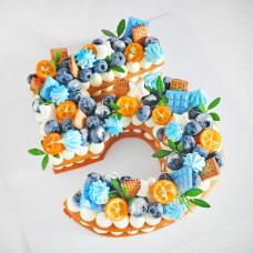 Медовый торт цифра 5