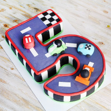 Детский торт цифра 5
