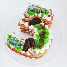 Торт в форме цифры 5