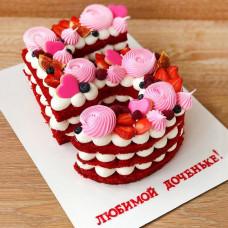 Торт красный бархат на 5 лет