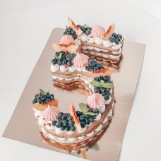 Торт цифра 5 без мастики