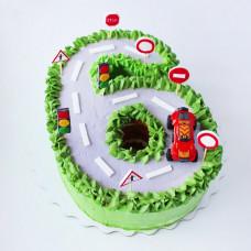 Торт цифра для мальчика 6 лет