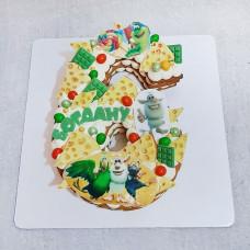 Торт цифра 6 лет