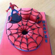 Торт цифра 6 Человек паук