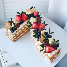 Торт цифра 7 лет
