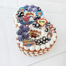 Торт цифра 8 для мальчика