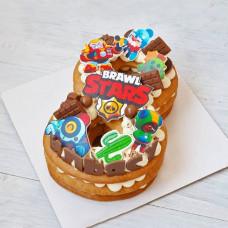 Торт цифра 8