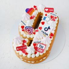 Торт цифра 9 для девочки