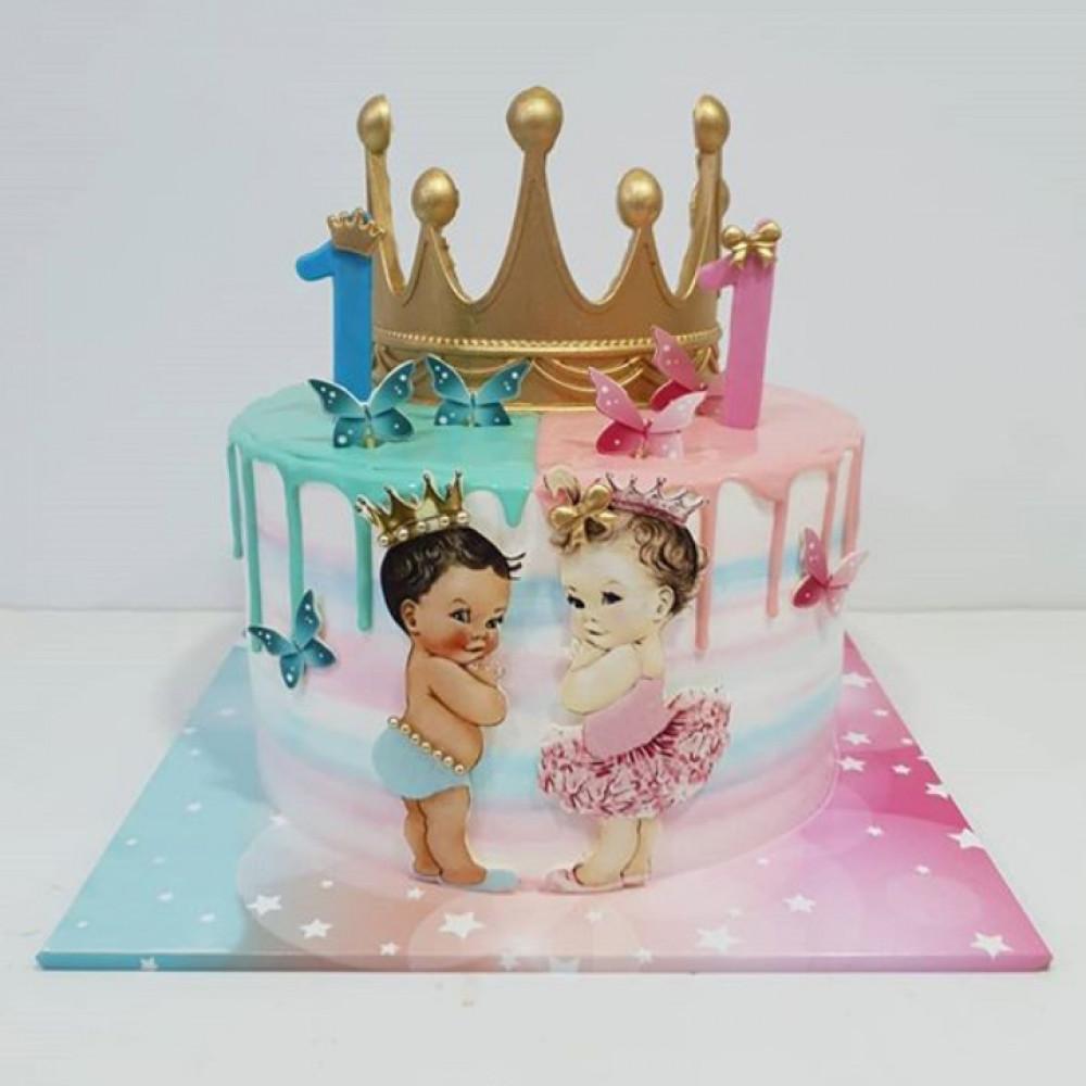 Торт на годовасие двойняшкам