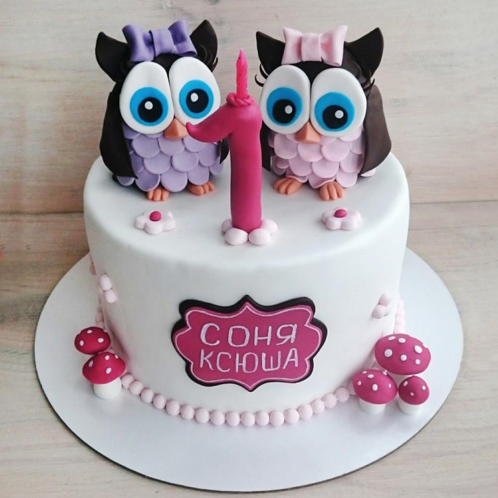 Торт на год для близнецов