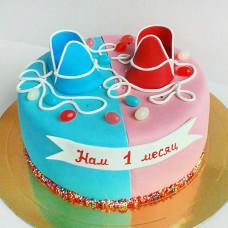Торт двойняшкам на 1 месяц