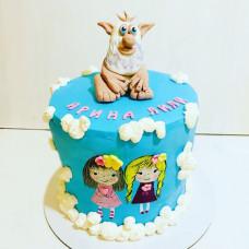 Торт на год двойняшкам девочкам