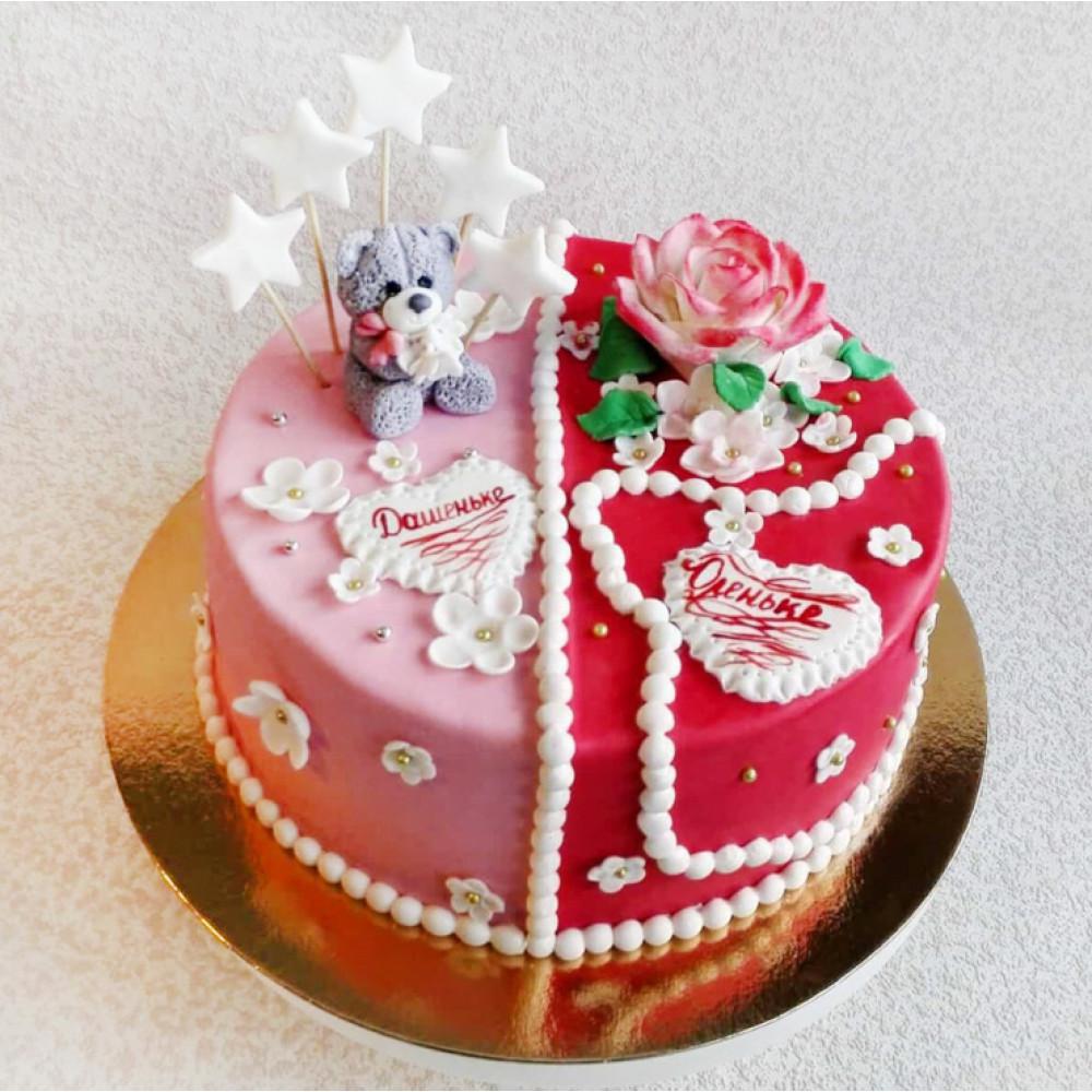Торт для девушек двойняшек