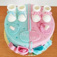 Торт для близнецов мальчика и девочки