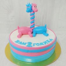 Торт для двойняшек на 2 года