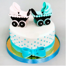 Торт для разнополых двойняшек