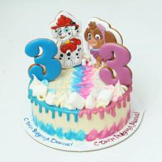Торт для двойняшек 3 года