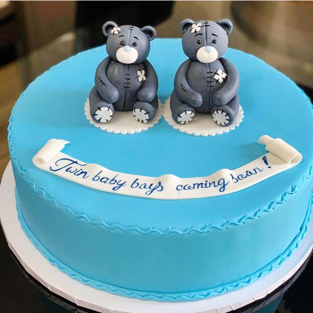 Торт на годик близнецам мальчикам