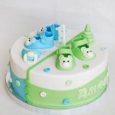 Торт на 1 годик двойняшкам