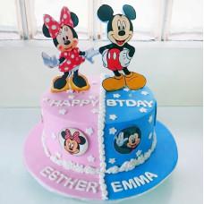 Именной торт для двойни