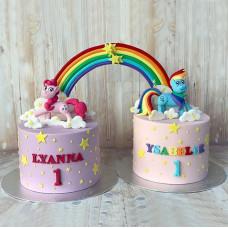 Торт для малышей-близняшек