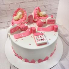 Торт для близнецов девочек