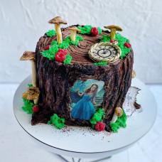 Торт пенек из сказки Алиса в стране чудес