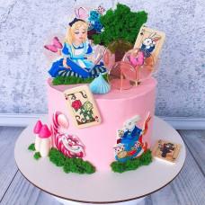 Торт Алиса в стране чудес для девочки
