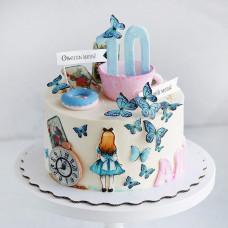 Торт Алиса в стране чудес на день рождения