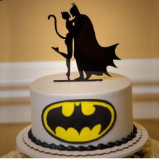Свадебный торт Бэтмен и Женщина-кошка