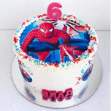 Торт с человеком пауком 6 лет