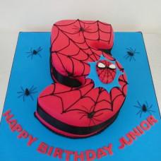Торт цифра 5 человек паук
